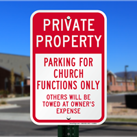 Church Private Property Sign