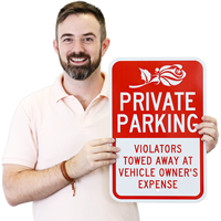 Violators Towed Away Private Parking Sign