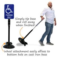 SignBase Portable cast Iron Parking Sign