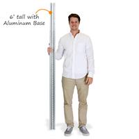 6' Tall Galvanized Steel Post