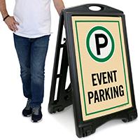 A-Frame Event Sidewalk Parking Sign
