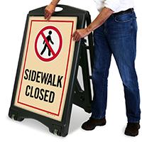 A-Frame Sidewalk Closed Sign