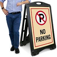No Parking Sidewalk Sign