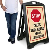Stop A-Frame Portable Sidewalk Sign