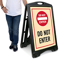 Do Not Enter A-Frame Portable Sidewalk Sign