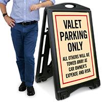 Valet ParkingA-Frame Portable Sidewalk Sign