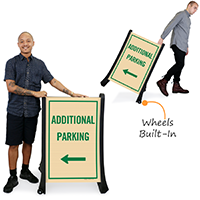 Additional Parking With Arrow Sidewalk Signs Kit
