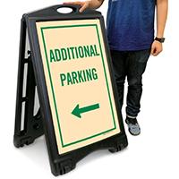 Additional Parking A-Frame Portable Sidewalk Sign