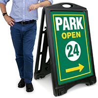 Park Open A-Frame Portable Sidewalk Sign