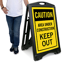 Keep Out Under Construction Area Sidewalk Sign