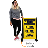 Falling Ice Snow A-Frame Portable Sidewalk Signs Kit