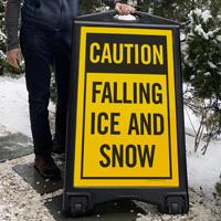 Falling Snow A-Frame Portable Sidewalk Signs