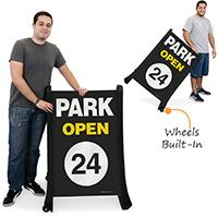 Park Open Portable Sidewalk Sign