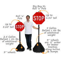 Portable Rolling Cone Base Sign