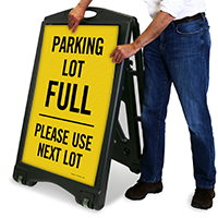 Parking Lot Full A-Frame Portable Sidewalk Sign