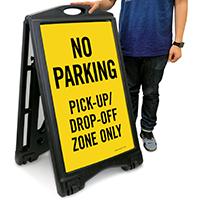 No Parking A-Frame Portable Sidewalk Sign