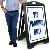 Vip Parking A-Frame Portable Sidewalk Sign