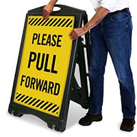 Pull Forward A-Frame Portable Sidewalk Sign