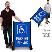 Parking In Rear A-Frame Sidewalk Sign