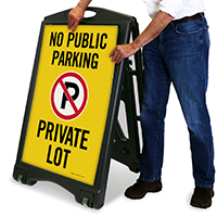No Public Parking - Private Lot with Graphic