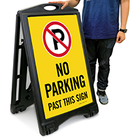 No Parking, Past This Sign with Symbol