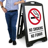 No Smoking/No Fumar with Symbol