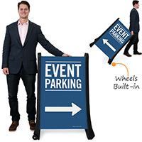 Event Parking With Directional Signs
