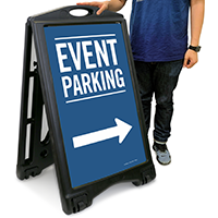Event Parking With Directional Sidewalk Signs