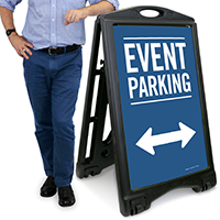 Event Parking with Bidirectional Arrow Sign