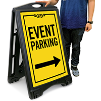 Event Parking with Left/Right Arrow (Front/Back) Sign