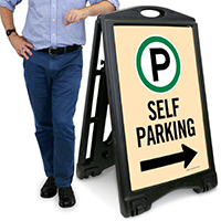 Self Parking With Directional Arrow Signs