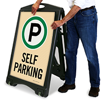 Self Parking Portable Sign