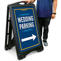 Wedding Parking with Left/Right Arrow Portable Sign