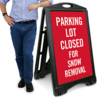 Parking Closed For Snow Removal Signs