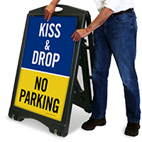 Kiss and Drop - No Parking Sign