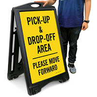 Pick-Up and Drop-Off Area Sign