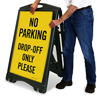 No Parking - Drop-Off Only Sign