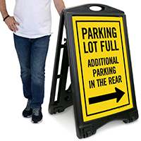 Additional Parking In The Rear Sign
