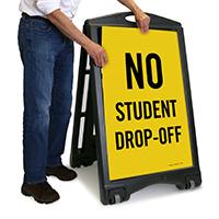 No Student Drop-Off Sign