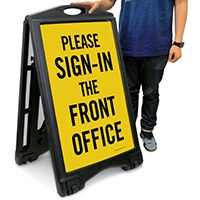 Please Sign-In The Front Office Sign