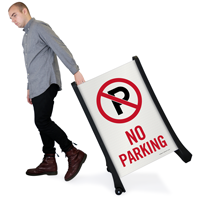 No Parking Sign with Symbol