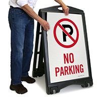 No Parking Portable Sidewalk Signs