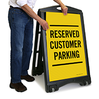 Reserved Customer Parking Sign
