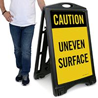 Caution - Uneven Surface Sign