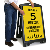 Children Are Crossing Sign with Graphic