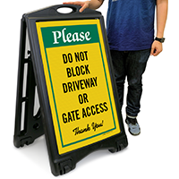 Do Not Block Driveway Or Gate Access Sign