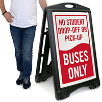 Drop-Off Or Pick-Up, Buses Only Sign