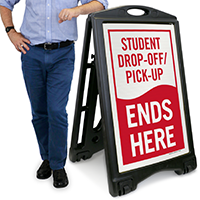 Drop-Off and Pick-Up, Ends Here Sign