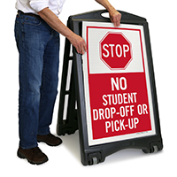 No Student Drop-Off or Pick-Up with Symbol