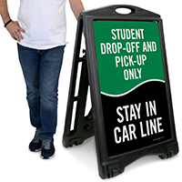 Student Drop-Off And Pick-Up Only Sign